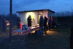 Abendstimmung vor dem beheizten Vereinsheim