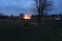 Abendlicher blick auf das Feuer